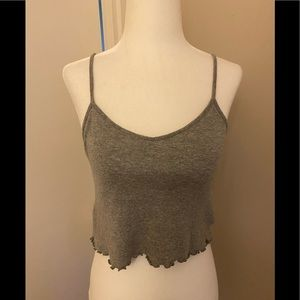 Urban Outfitters Lettuce Hem Cropped Tank